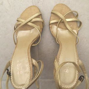 BCBG Golden Sandals